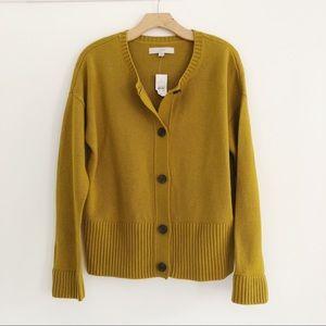 NWT Loft Mustard Merino Wool Sweater